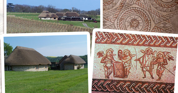 Bignor Roman Villa, West Sussex, Roman mosaics